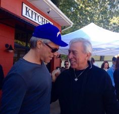jbjgirl63: Jon Bon Jovi and his dad at the Soul Kitchen's 4th anniversary and chili cook off. 10-10-15