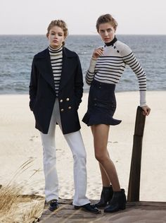 Top models Nadja Bender and Hollie May Saker team up for Warming Trend story captured for W Magazine's November 2015 edition by photographer Jason Kibbler. Look Fashion, Autumn Fashion, Fashion Outfits, Fashion Story, Fashion Images, Modern Fashion, Ladies Fashion, Fashion Tips, Fashion Trends