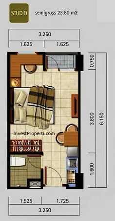 House Layout Design, House Floor Design, Small House Design, House Layouts, Small Apartment Layout, Studio Apartment Layout, Studio Apartment Floor Plans, Apartment Plans, Small House Plans