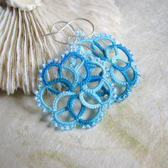 Waterfall orecchini a chiacchierino - tatted earrings