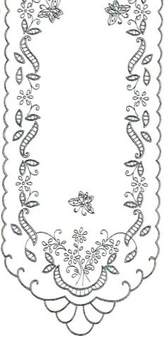 Ubrus obdélník richelieu, 90 x 34 cm ile ilgili görsel sonucu Cutwork Embroidery, Sewing Machine Embroidery, Hand Embroidery Designs, Vintage Embroidery, Cross Stitch Embroidery, Broderie Simple, Diy Broderie, Parchment Craft, Cut Work