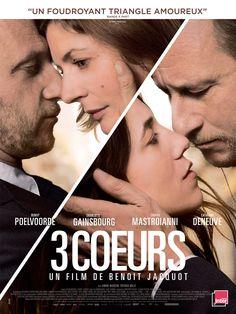 3 coeurs est un film de Benoît Jacquot avec Benoît Poelvoorde, Charlotte Gainsbourg. Synopsis : Dans une ville de province, une nuit, Marc rencontre Sylvie alors qu'il a raté le train pour retourne...