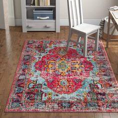 Willa Arlo Interiors Aliyah Oriental Pink Area Rug Rug Size: Rectangle x Orange Area Rug, Blue Area, Bedroom Carpet, Living Room Carpet, Bedroom Rugs, Bedroom Decor, Carpet Trends, Carpet Ideas, Carpet Decor