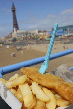 ~Fish & Chips on a pier in Blackpool, England~
