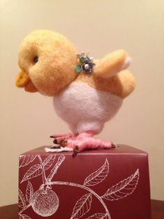 Needle Felted Baby Chick  Chicken Little by TangleWools on Etsy, $38.00