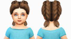 """The Sims 4 Mody: Fryzura""""Endorphine"""" dla małych dziewczynek od Fabi..."""