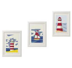 Sea Lighthouse Ship Cross Stitch pattern modern Set of 3 Gift ideas Nautical embroidery cross stitch   Counted cross stitch pattern