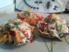 Pizza com base de cogumelos