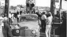 The last car to leave the Koondooloo, the vehicle ferry. NSW Australia