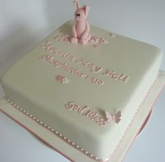 #Christening cake for a little #baby #girl in #pink