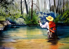 Trout Fishing by C. Van Horn