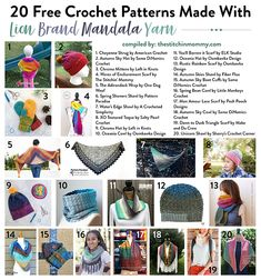 20 Free Crochet Patterns Made With Lion Brand Mandala Yarn compiled by The Stitchin' Mommy   www.thestitchinmommy.com
