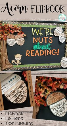 Acorn Story Elements and Nonfiction Flipbooks Reading Response Teaching Fourth: Fall Bulletin Board Ideas and a Freebie!Teaching Fourth: Fall Bulletin Board Ideas and a Freebie! November Bulletin Boards, Writing Bulletin Boards, Elementary Bulletin Boards, Thanksgiving Bulletin Boards, College Bulletin Boards, Kindergarten Bulletin Boards, Interactive Bulletin Boards, Birthday Bulletin Boards, Bulletin Board Display
