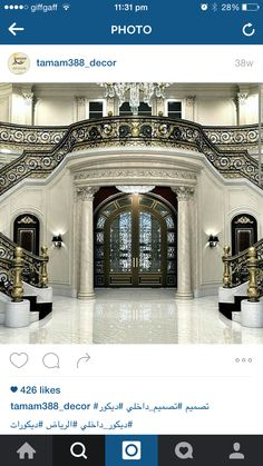 luxury homes Modern -- Click Visit link above for more info🏫 Grand Foyer, Grand Staircase, Grand Entrance, Stairs, Inspire Me Home Decor, Luxury Homes Dream Houses, House Goals, Life Goals, Luxury Interior Design