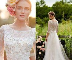 Tendencias de boda 2017: Vestidos de novia con flores 3D [FOTOS] (33/41) | Ellahoy
