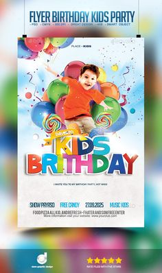 Excellent flyer for your Next Birthday Kids Party!