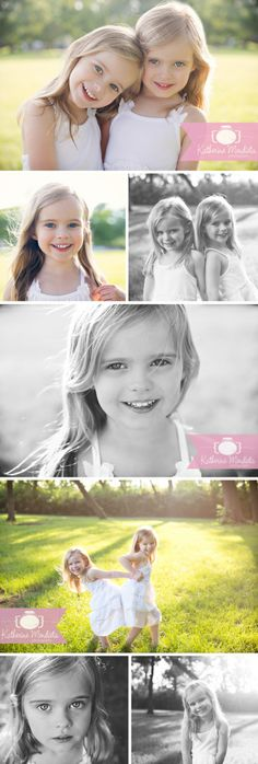 Beautiful blonde twin girls in white dresses during the golden hour. children photography. child kid pose ideas. Excelsior, Minnesota Family Photo Session { Minneapolis Photographer } visit www.katherinemphoto.com