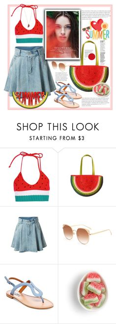 """Watermelon"" by natalyapril1976 ❤ liked on Polyvore featuring Boohoo, Steve Madden and Betsey Johnson"