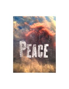 #socialques Peace 8.5 x 11 inches Giclee print with hand lettered graphite and ink