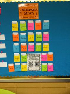 Easy way to have students check books out of your classroom library.  #balancedliteracy Library Checkout System, Classroom Library Checkout, New Classroom, Classroom Crafts, Classroom Organization, Classroom Ideas, Classroom Libraries, Class Library, Library Ideas