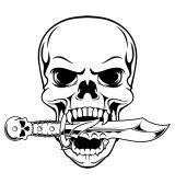 Vampire skull and skill knife