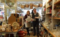 Frankie and Johnny Hayes in their kitchenware shop. Revitalizing the High St..,