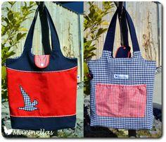 Einkaufstasche KURT, ganz maritim in blau, rot und weiß