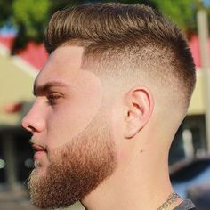 Skin Fade x Fohawk by @jncuts ...Nicely blended and the beard is A1! #Fohawk…