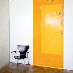 Seven Amazingly Colourful Shower Room Ideas - Bright Bazaar by Will Taylor Interior Architecture, Interior And Exterior, Bathroom Inspiration, Interior Inspiration, Mira Showers, Yellow Bathrooms, Interior Decorating, Interior Design, Decorating Ideas
