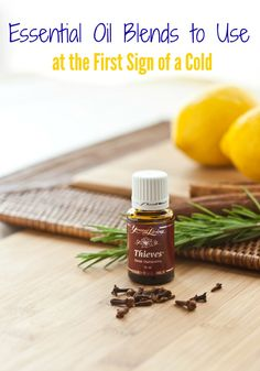 Getting the sniffles? Here are some of our favorite essential oil blends to use at the first sign of a cold.