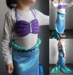 DIY: le costume d'Ariel la petite sirène en partenariat avec TISSUS.NET