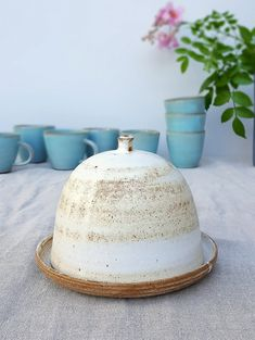 butter dish butter dish with lid lidded butter by FreshPottery
