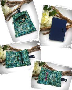 La Fontaine des Faits sur Instagram: 🎉🎁Idée cadeau 🎁 🎉 Le joli portefeuille Compère de chez @patrons_sacotin dans une jolie toile bleue marine et un magnifique imprimé batik…