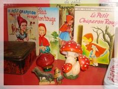 Little Red Riding Hood Corner and vintage books