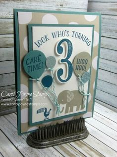 This card didn't make the cut for my #imbringingbirthdaysback stamp-a-stack. I explain why in my blog post:http://www.carolpaynestamps.com/2016/03/stampin-up-number-of-years-zoo-babies-birthday-card.html