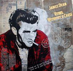 James Dean 1  100x100 Alu Oxidation James Dean, Joker, Fictional Characters, Art, Pictures, Art Background, Kunst, The Joker, Performing Arts