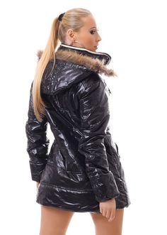 Womens Long Sleeve Winter Coat Winter Jacket Quilted Coat Jacket Hood Faux Fur