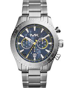 Michael Kors Men's Chronograph Richardson Stainless Steel Bracelet Watch 45mm MK8351