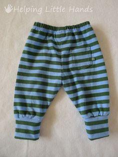 Costura Niños: Patrón Pantalones para recien nacidos Gratis