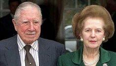 El General Pinochet Ugarte y la Baronesa Margaret Thatcher.