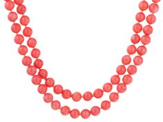Pacific Style(Tm) 8-9mm Round Salmon Pink Coral Endless Bead Necklace