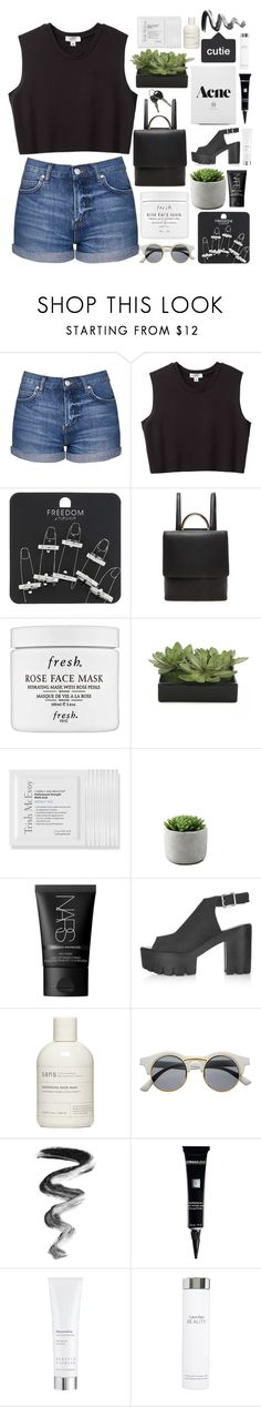 """""""Follow Your Heart"""" by kiki0122 ❤ liked on Polyvore featuring Topshop, Nomia, Forever 21, Fresh, Lux-Art Silks, Trish McEvoy, NARS Cosmetics, Retrò, Dermablend and Kerstin Florian"""