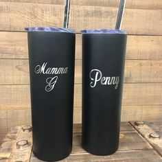 Double wall stainless steel tumblers hold heat for 12 hours and cold for 24 hours!  The perfect cup for everyday use! Engrave with a name, quote, monogram, logos and more!