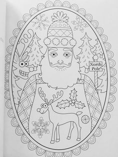 Christmas Coloring Book (Coloring is Fun) (Design Originals) 32 Fun & Playful Holiday Art Activities from Thaneeya McArdle on High-Quality, Extra-Thick Perforated Pages that Resist Bleed-Through Santa Coloring Pages, Printable Christmas Coloring Pages, Adult Coloring Book Pages, Colouring Pics, Coloring Books, Christmas Colors, Christmas Art, Color Me Beautiful, Christmas Templates