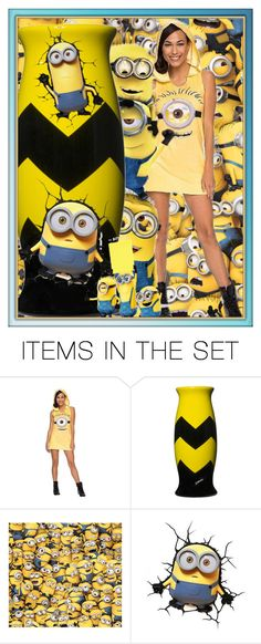 """""""Minions Vase"""" by mimi1207 ❤ liked on Polyvore featuring art"""
