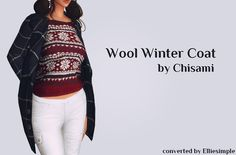 Sims 4 CC's - The Best: Wool Winter Coat by Elliesimple