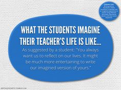 Site with great writing prompts    #761 What the students imagine their teacher's life is like.
