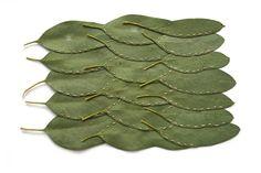 Alice Fox Leaf Stitching eucalyptus triple row
