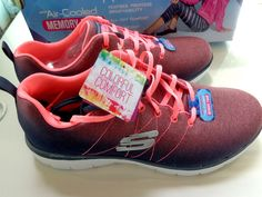 Skechers Women's Flex Appeal 2.0 Bright Side Charcoal/Coral 12763/CCCL Size 10  #SKECHERS #Sneakers
