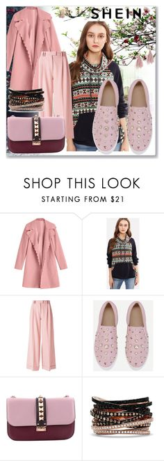 """""""shein"""" by emafashion-1 ❤ liked on Polyvore featuring VIVETTA, Valentino, Effy Jewelry and Lizzie Fortunato"""